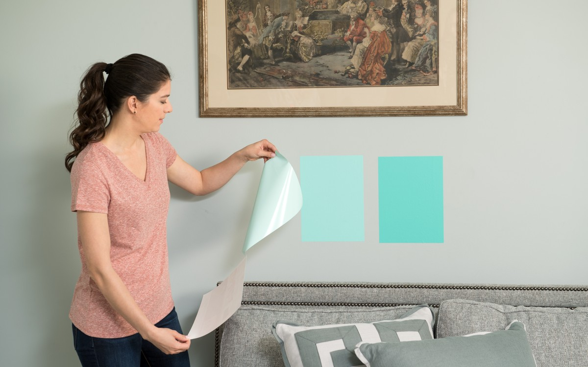 temporary paint swatches